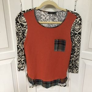 THML 3/4 Sleeve Top XS